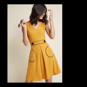 Modcloth Smak Parlour Retro A-Line Dress